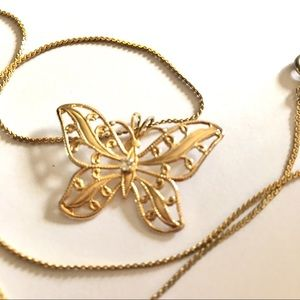 Jewelry - Butterfly Necklace Gold Chain